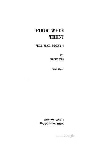 Download Four weeks in the trenches