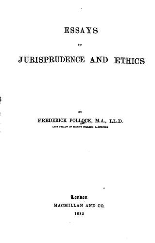 Download Essays in jurisprudence and ethics