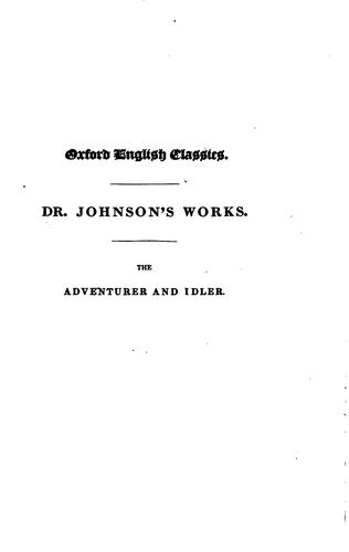 The works of Samuel Johnson …