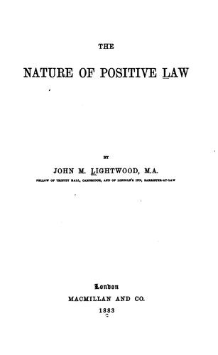 The nature of positive law