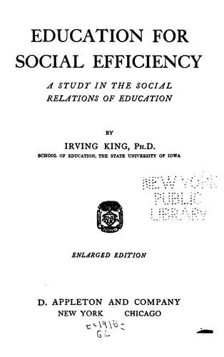 Download Education for social efficiency