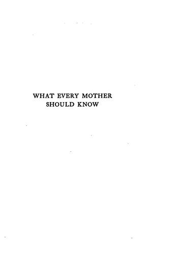 Download What every mother should know about her infants and young children