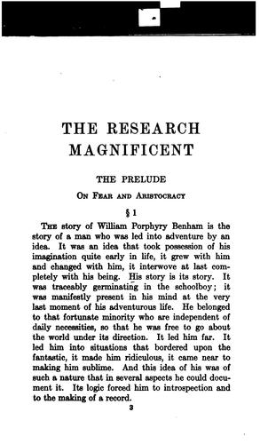 Download The research magnificent