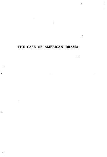 Download The case of American drama