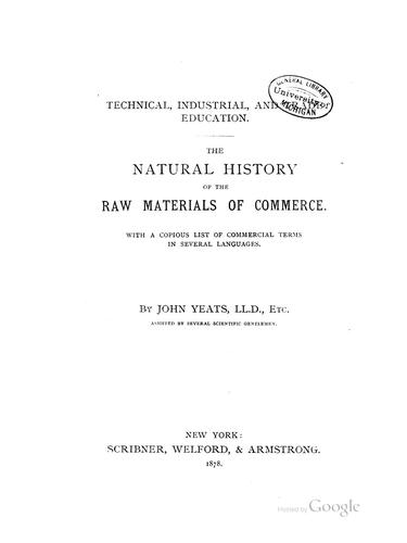 Download The natural history of the raw materials of commerce.