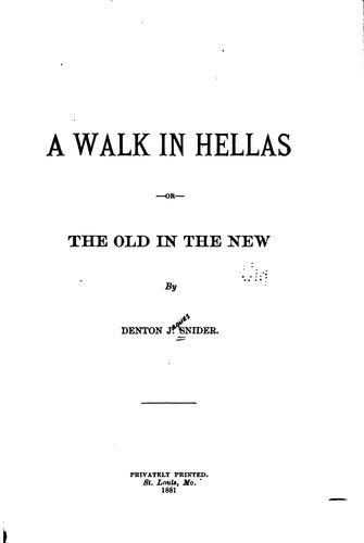 Download A walk in Hellas