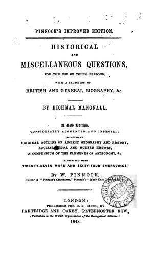 Historical and miscellaneous questions.