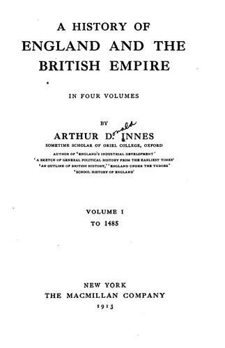 Download A history of England and the British Empire …