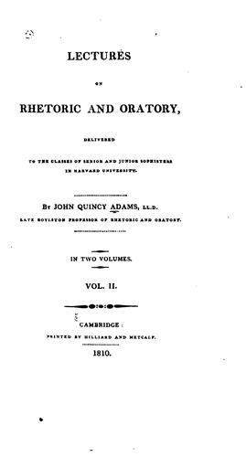 Lectures on rhetoric and oratory