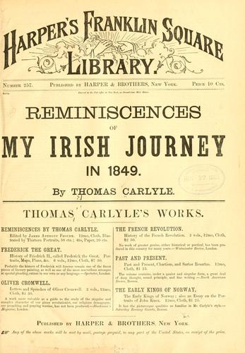 Download Reminiscences of my Irish journey in 1849.