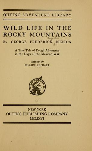 Download Wild life in the Rocky Mountains