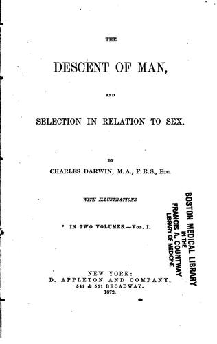 Download The  descent of man, and selection in relation to sex.