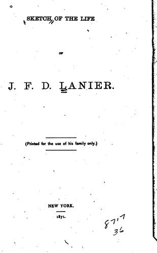 Download Sketch of the life of J. F. D. Lanier.