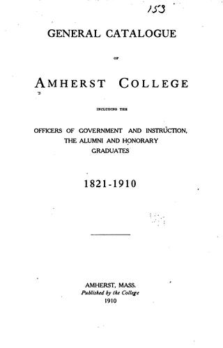 General catalogue of Amherst College