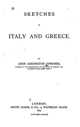 Download Sketches in Italy and Greece.
