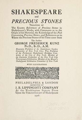 Download Shakespeare and precious stones.
