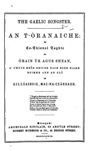 The Gaelic songster.