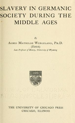 Download Slavery in Germanic society during the middle ages