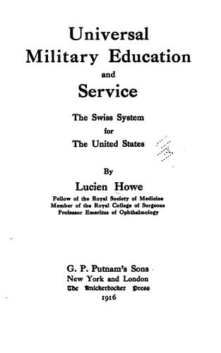 Download Universal military education and service