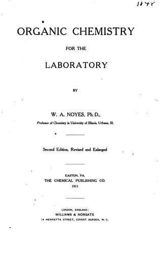 Download Organic chemistry for the laboratory