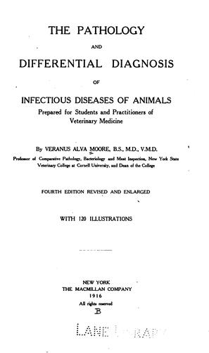 Download The pathology and differential diagnosis of infectious diseases of animals