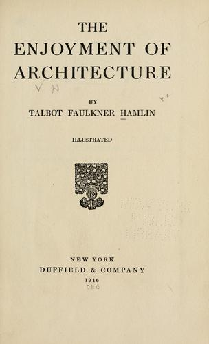 Download The enjoyment of architecture