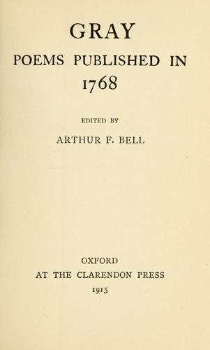 Poems published in 1768