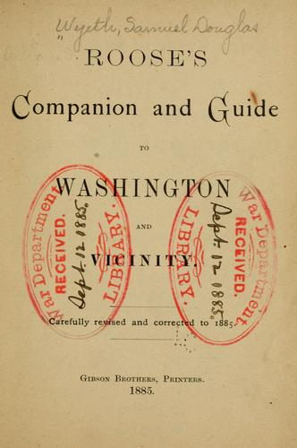 Download Roose's companion and guide to Washington and vicinity.