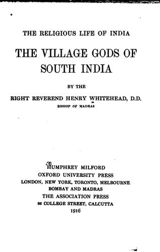 Download The village gods of south India