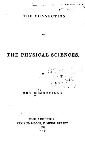 The connection of the physical sciences.