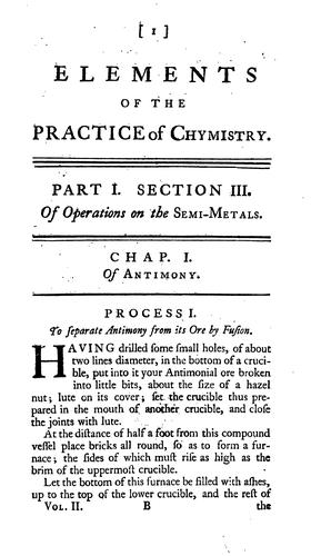Elements of the theory and practice of chymistry.