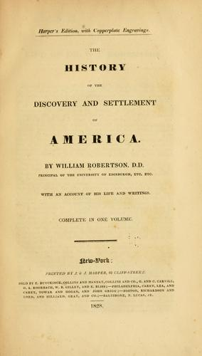 Download The history of the discovery and settlement of America.
