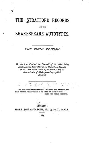 Download The Stratford records and the Shakespeare autotypes.