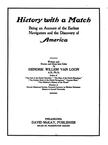History with a match