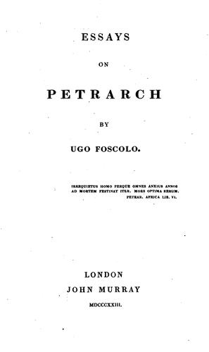 Download Essays on Petrarch