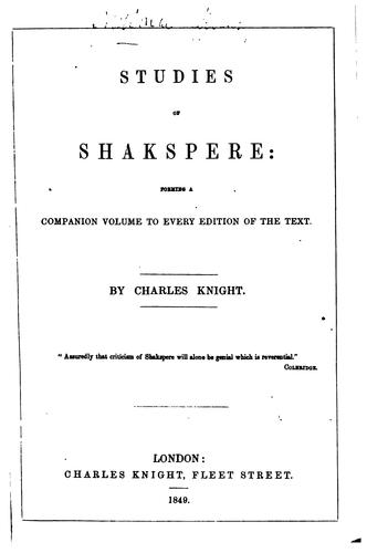 Download Studies of Shakspere