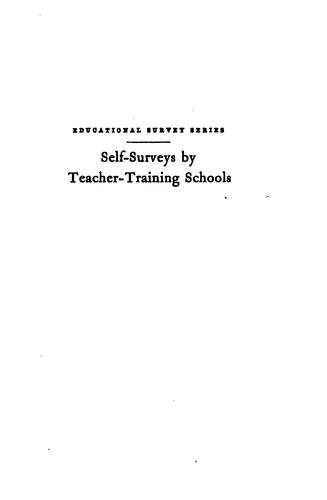 Download Self-surveys by teacher-training schools