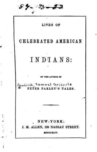 Download Lives of celebrated American Indians