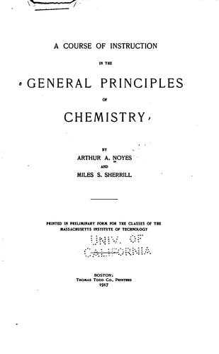 Download A course of instruction in the general principles of chemistry