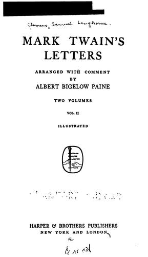 Download Mark Twain's letters
