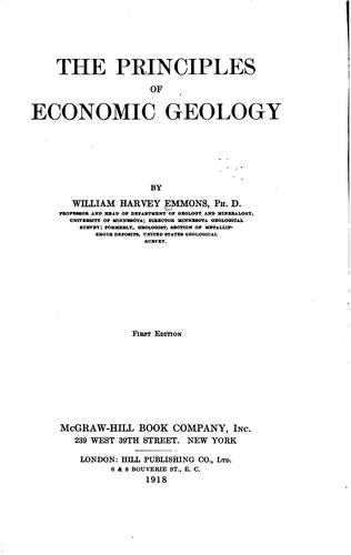 The principles of economic geology