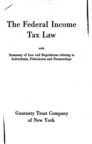 Download The Federal Income Tax Law Act of September 8, 1916, as amended