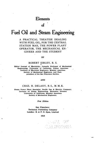 Elements of fuel oil and steam engineering