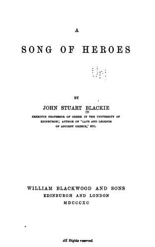 A song of heroes