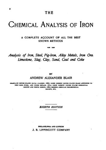 Download The chemical analysis of iron