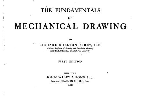 The fundamentals of mechanical drawing