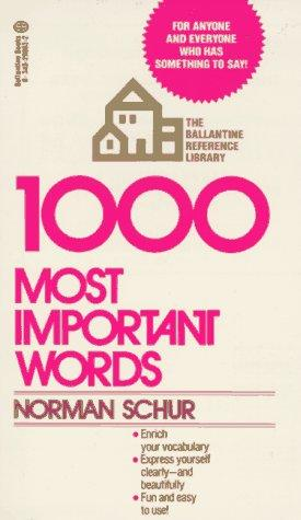 1,000 most important words