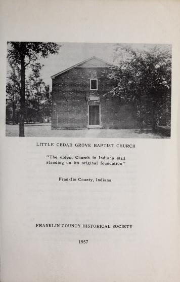 Little Cedar Grove Baptist Church, Franklin County, Indiana by