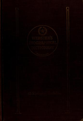 Webster's biographical dictionary by