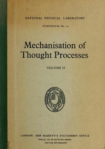 Mechanisation of thought processes by National Physical Laboratory (Great Britain)
